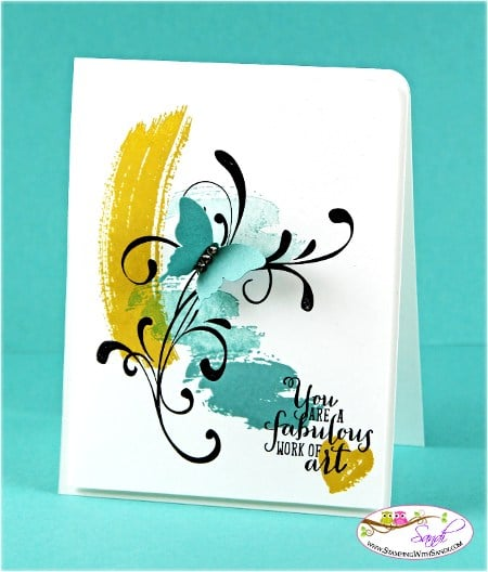 Work of Art and New Stampin Up In Colors