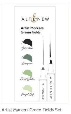 Altenew Green Fields Artist Marker Set stampinwithsandi.com