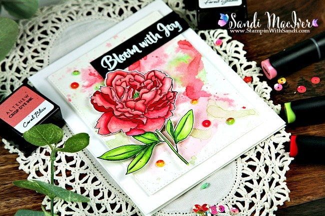 Video – Peony Spray Stamp and Die