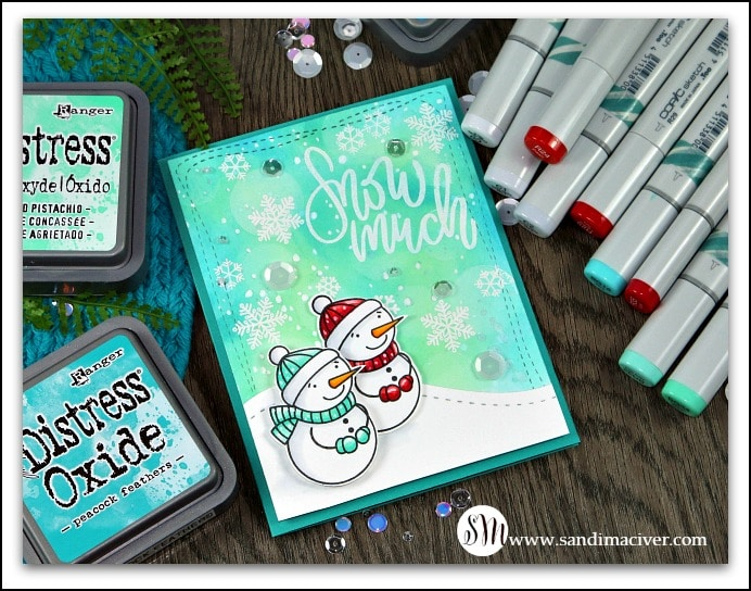 Simon Says Stamp Snow Much card by sandimaciver.com