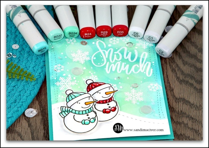 Simon Says Stamp snow Much copic colours I used sandimaciver.com