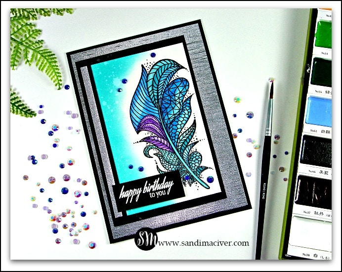 New Video - Masculine Feather Card from SandiMacIver.com