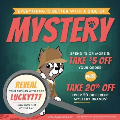 Mystery 20% Off Sale and NEW Products from Craft Stash