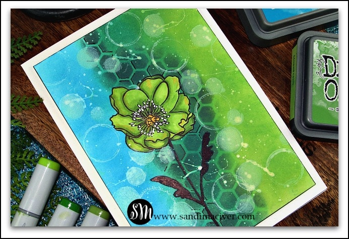 Distress Oxide Ink Simple Backgrounds #4 with Stampers Anonymous Flower Garden stamps