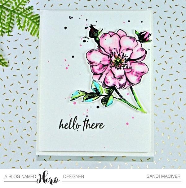 Hero Arts Rose Stem from SandiMacIver.com