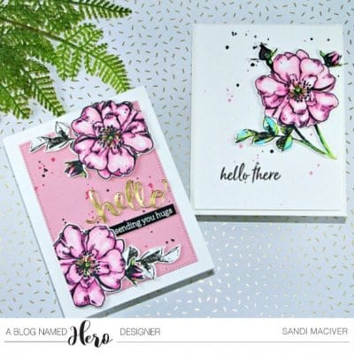 Hero Arts Rose Stem cards from SandiMacIver.com