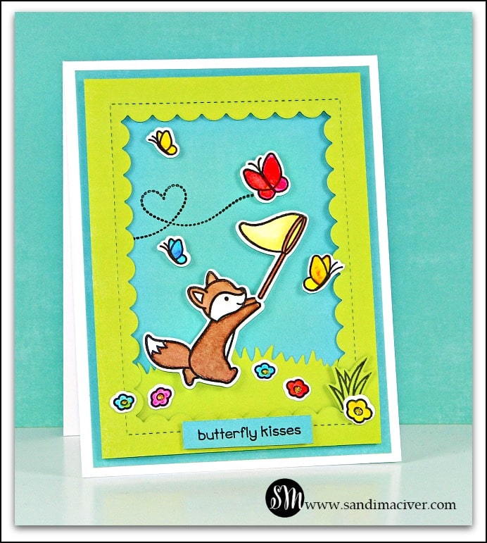 Lawn Fawn Butterfly Kisses - Fox Card
