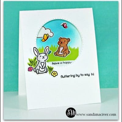 Lawn Fawn Butterfly Kisses - In and Out Card