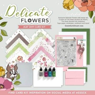 The Simon Says Stamp May 2019 Delicate Flowers Kit is here