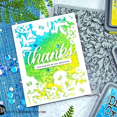 Simon Says Stamp Floral Mom Frame blue from SandiMaciver.com