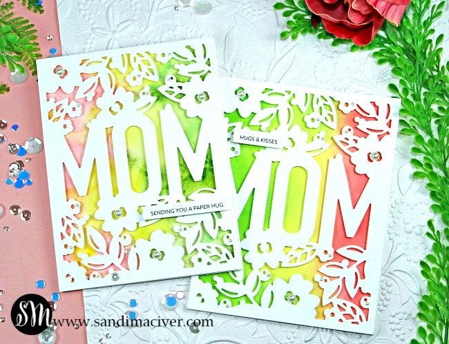 Simon Says Stamp Floral Mom Frame pinks from SandiMacIver.com