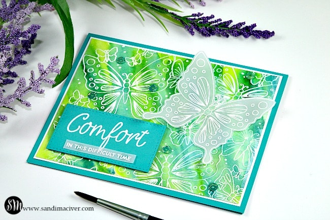 Butterfly comfort from Simon Says Stamp