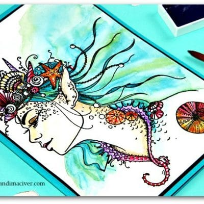 Nerissa watercolored for CraftStash