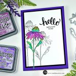 Simple Distress Oxide Watercolor Flower Garden