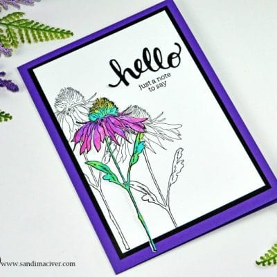 New Video – Simple Distress Oxide Watercolor Flower Garden