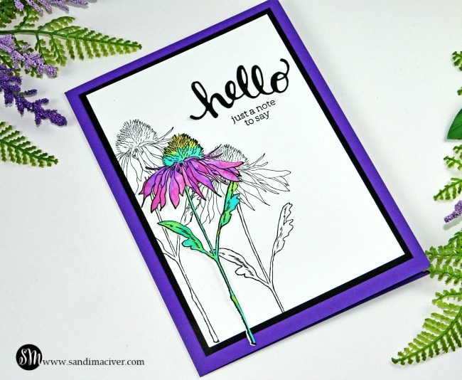 New VIdeo Simple Distress Oxide Watercolor Flower Garden