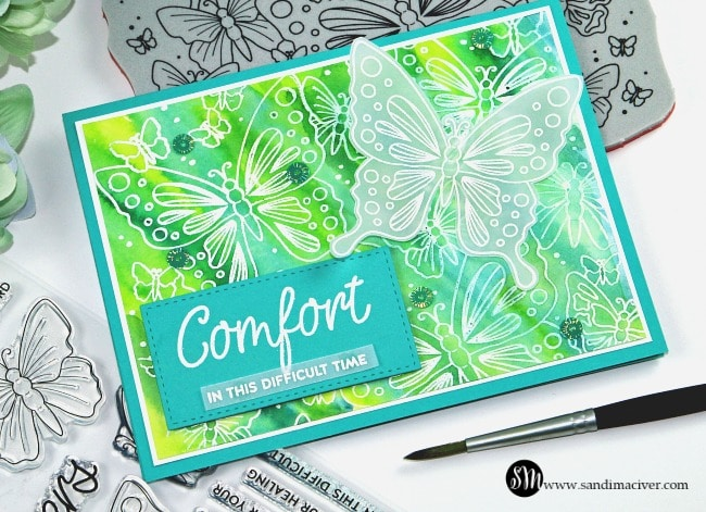 Butterfly Comfort stamps from Simon Says Stamp