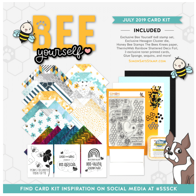 Simon Says Stamp July card kit - Bee Yourself