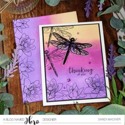 NEW Video – Distress Oxide Ink and Layering Dragonfly