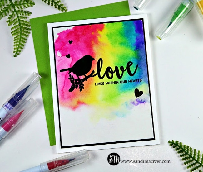 Rainbow Love from Simon Says Stamp Rest and Refresh release