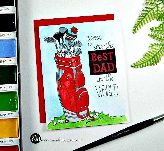 Simon Says Stamp Watercolor Prints golf bag