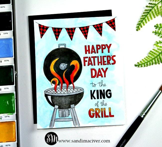 Simon Says Stamp Watercolor prints grill
