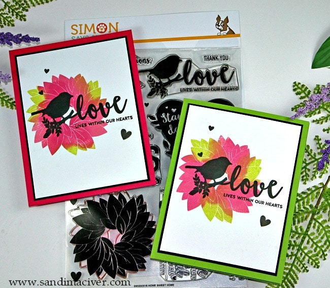 Simon Says Stamp New Release - home sweet home pink cards