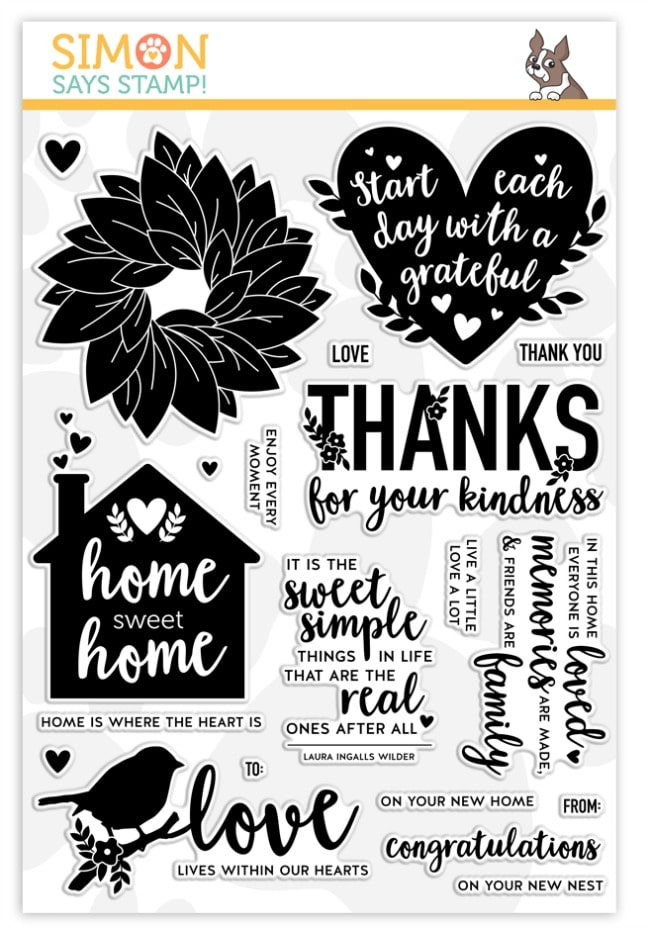 Simon Says Stamp New Release home sweet home stamp set