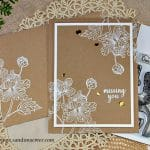 Sweet Friendship Gina K heat embossed card