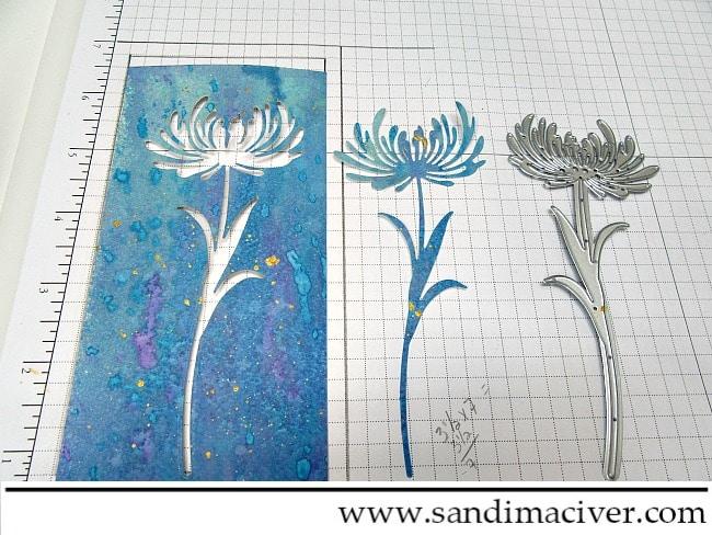 Wildflower stems die cut pieces