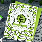 Outline Leaves and Filigree Wreath from Simon Says Stamp