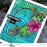 Hero Arts Tropical Flowers how to create a Ink Batik Background