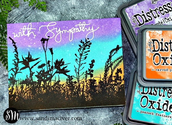 Distress Oxide Inks and Wildflowers from Simon Says Stamp