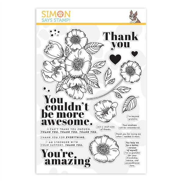 Simon SAys Stamp Thankful Flowers Stamp Set