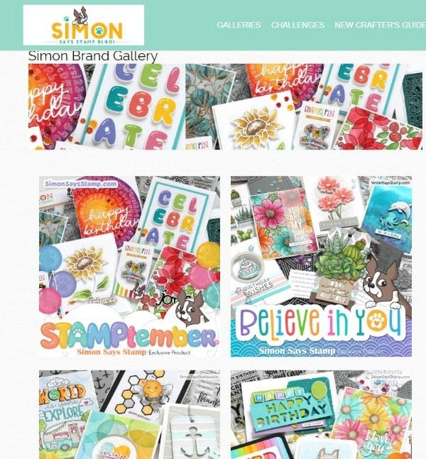 Simon Says Stamp Blog and gallery