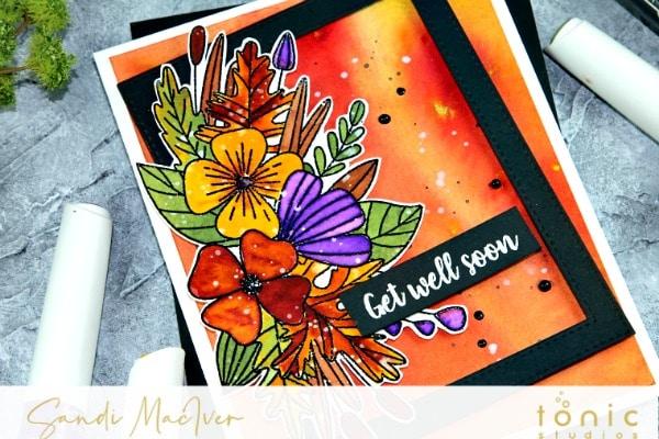 Tonic Studios Botanical Burst Fall Card