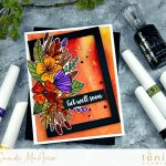 Tonic Studios Botanical Burst Fall Card