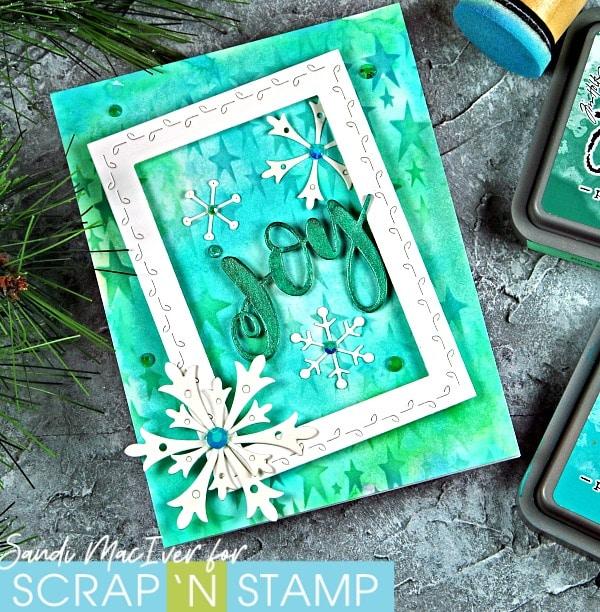Distress Oxide Christmas Cards