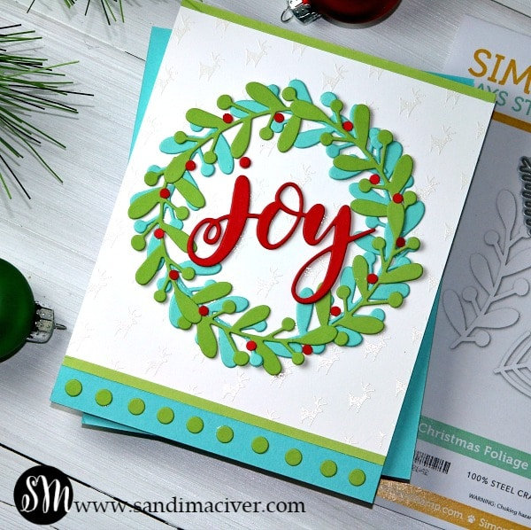 Simon Says Stamp Christmas Foliage Wreath Card
