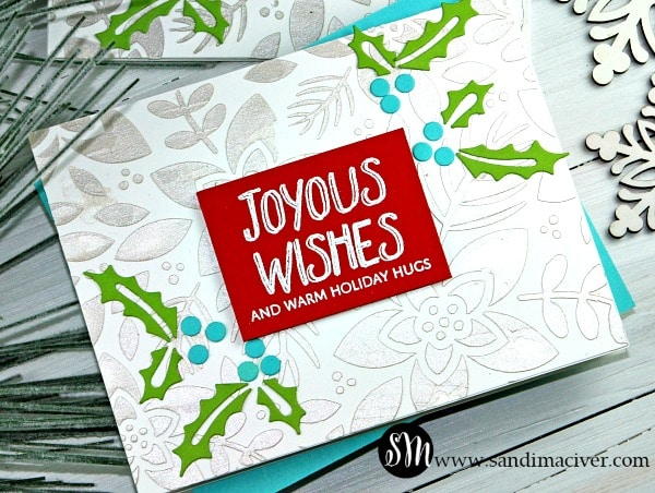 Simon Says Stamp Foral Stenciled Background