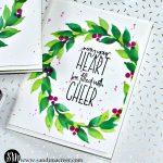 Altenew Wonderful Wreath Christmas Card