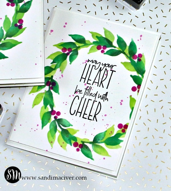 Altenew Wonderful Wreath Christmas Card