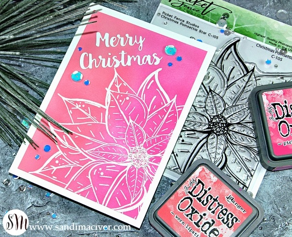 Picket Fence Studios Christmas Poinsettia Star