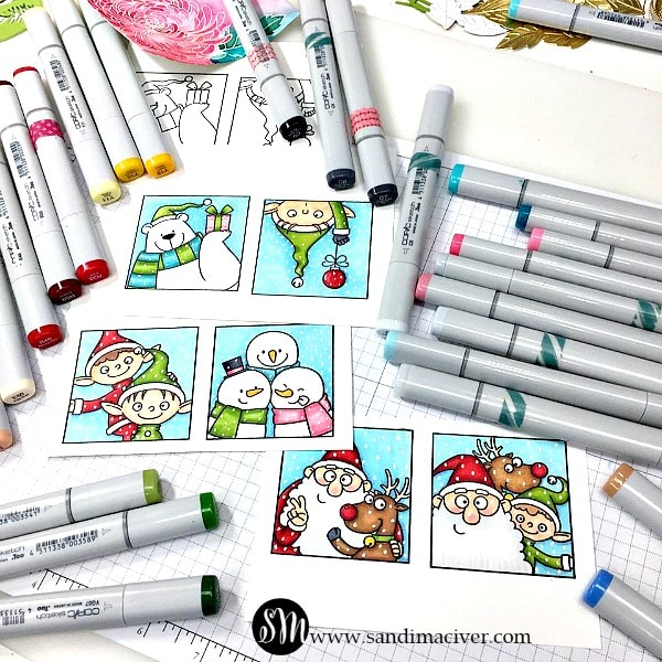 the daily marker 30 day color challenge with MFT Christmas Selfies