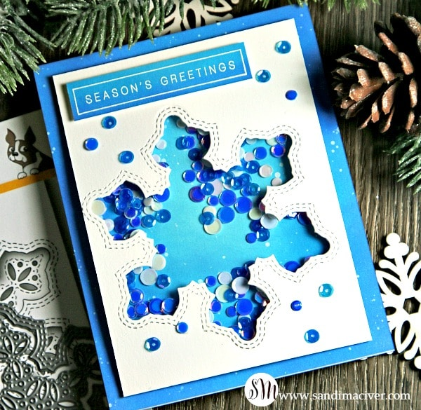 Diecember Shimmer Snowflake