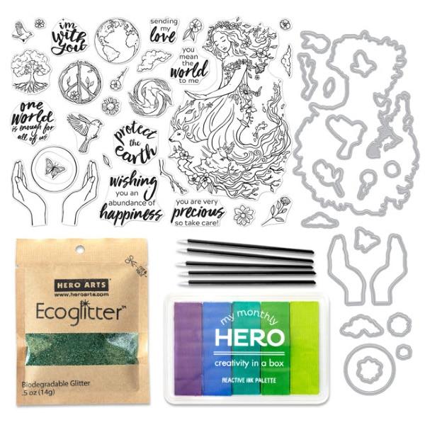 Hero Arts December 2019 My Monthly Hero Card Kit