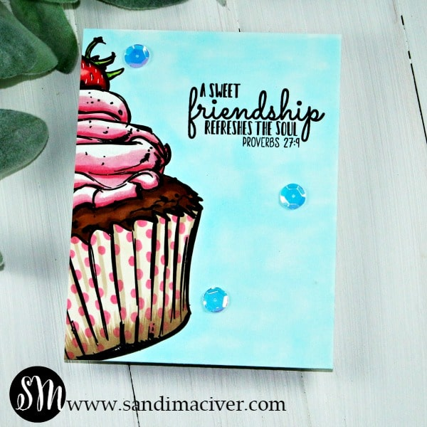 Sweet Friend Cupcake Valentine