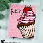 Sweet Friend Cupcake Valentine