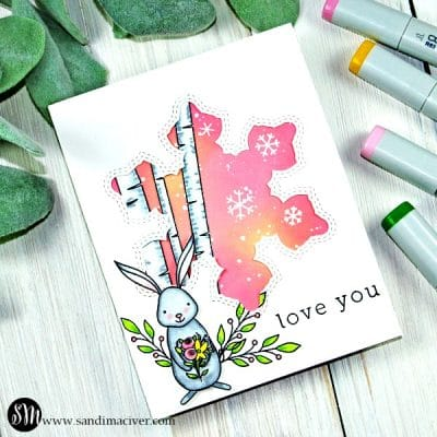 Woodland Whimsy Snow Bunny Card