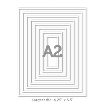A2 thin frame dies